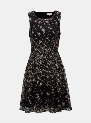 Čierne čipkované šaty s kvetovaným vzorom Apricot