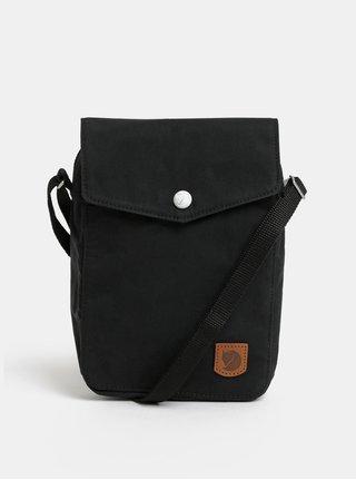 Černá crossbody taška s koženou nášivkou  Fjällräven Greenland