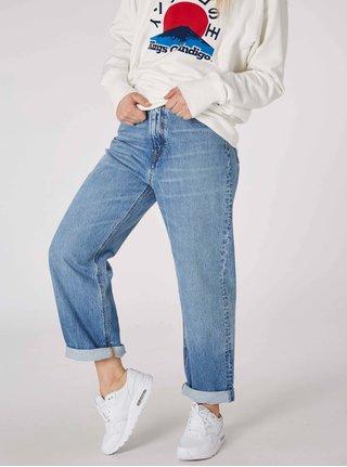 Modré dámské mom džíny s vysokým pasem Kings of Indigo
