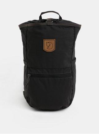 Sivý batoh s koženou nášivkou Fjällräven High Coast 18 l