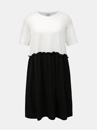 Bielo-čierne šaty Noisy May Bon Marche