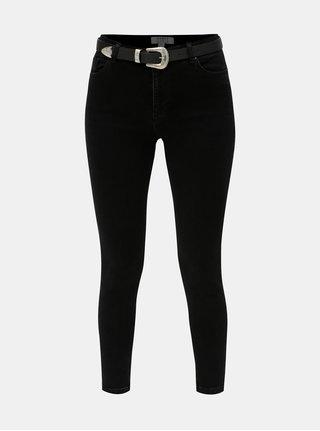 Černé skinny džíny s páskem Dorothy Perkins Darcy