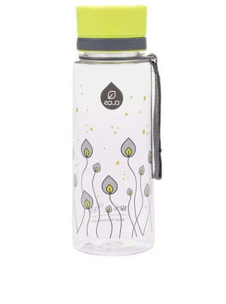 Sticla din plastic cu imprimeu cu frunze verde/gri EQUA (600 ml)