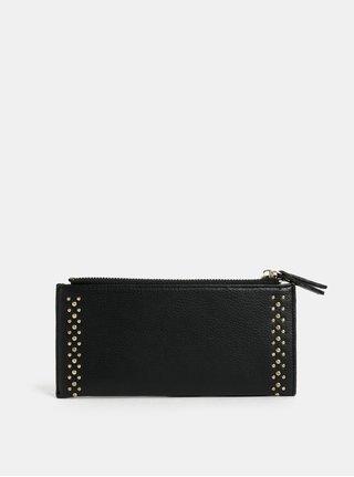 Černá velká peněženka s detaily ve zlaté barvě Dorothy Perkins