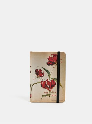 Agenda zilnica 2019 mini maro deschis Paperblanks Gloria Lily