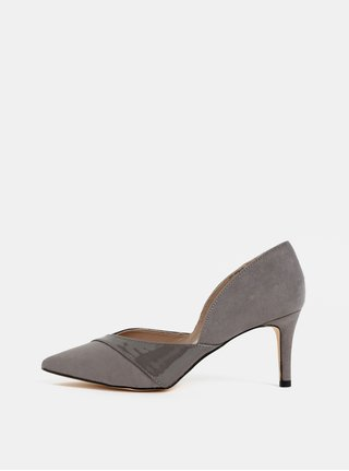 Pantofi gri din piele intoarsa Dorothy Perkins