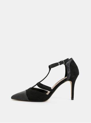Černé sandálky s detaily v semišové úpravě Dorothy Perkins