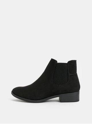 Černé chelsea boty v semišové úpravě Dorothy Perkins Monty