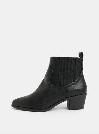 d987b75edc49 Čierne chelsea topánky na podpätku Dorothy Perkins Macqueen