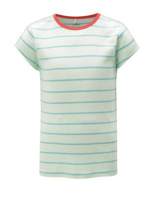 Zelené dievčenské pruhované tričko name it Verit