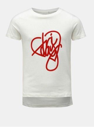 Krémové dievčenské tričko s potlačou LIMITED by name it