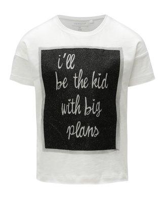 Bílé holčičí tričko s potiskem Name it Flela 6c353f74f9