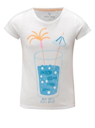 Biele dievčenské tričko s potlačou 5.10.15.