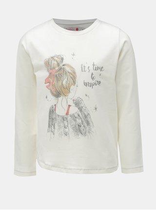 Krémové dievčenské tričko s potlačou BÓBOLI