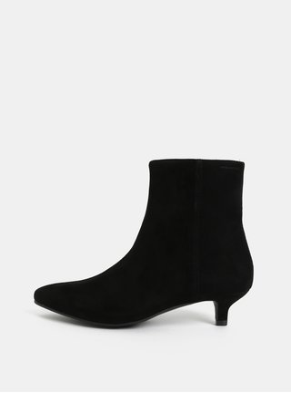 Čierne dámske semišové členkové topánky Vagabond Minna