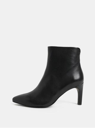 Čierne dámske kožené členkové topánky na ihličkovom podpätku Vagabond Whitney