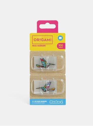 Set de marcaje adezive transparente cu motiv pasari colibri Mustard