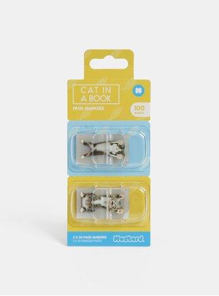 Set de marcaje adezive transparente cu motiv pisici Mustard