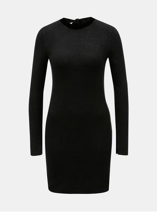 Rochie neagra tricotata cu maneci lungi Dorothy Perkins