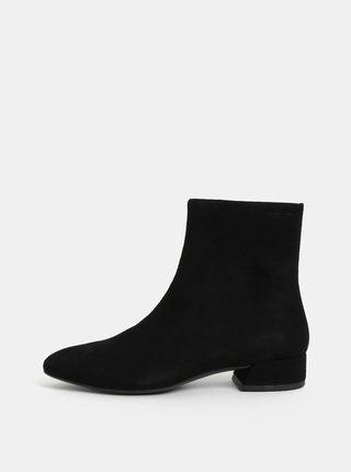 Čierne dámske semišové členkové topánky Vagabond Joyce