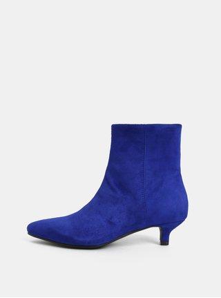 Modré dámské semišové kotníkové boty Vagabond Minna