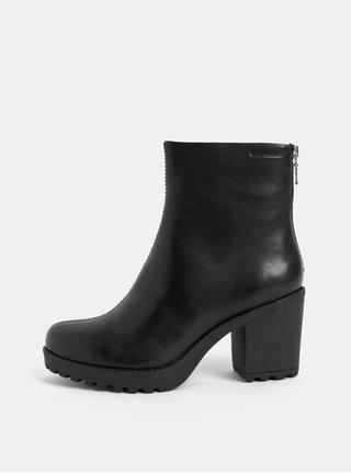 Černé dámské kožené kotníkové boty na podpatku Vagabond Grace 9ec72a266d