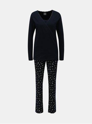 Pijama albastru inchis din 2 piese pentru femei insarcinate/alaptat Mama.licious