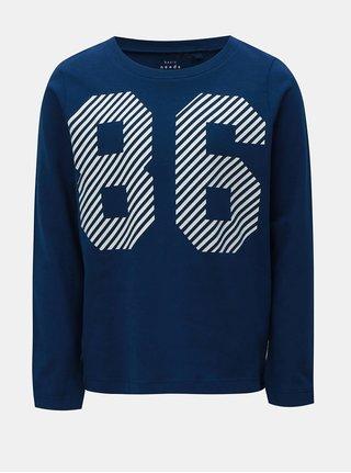 Modré chlapčenské tričko s potlačou Name it Vagno