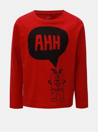 Červené chlapčenské tričko s potlačou Name it Vagno