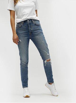Modré dámské skinny džíny s potrhaným efektem Levi's®
