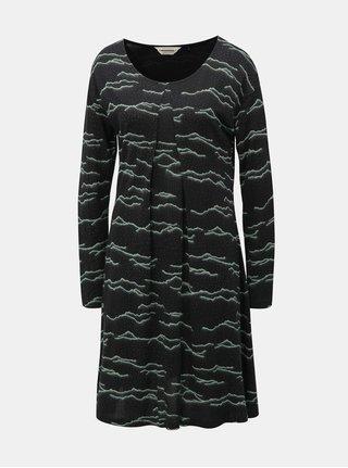 Rochie mentol-negru cu model SKFK