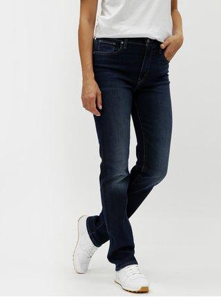 Tmavě modré dámské straight džíny s vyšisovaným efektem Levi's®