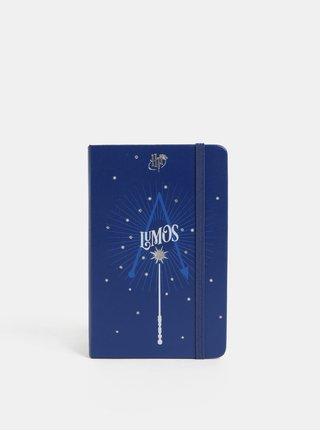 Modrý denní mini diář s motivem Harryho Pottera na rok 2019 Moleskine A6