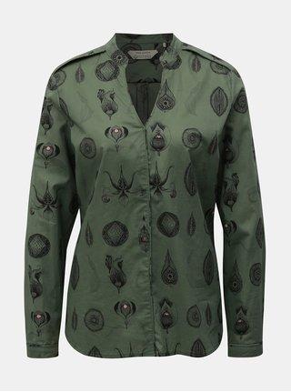 Bluza negru-verde cu model SKFK