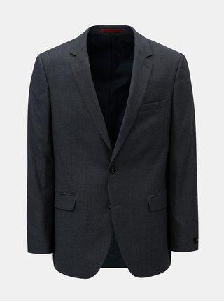 Sacou formal albastru inchis cu model discret Burton Menswear London