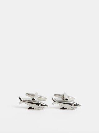 Manžetové knoflíčky ve stříbrné barvě Burton Menswear London