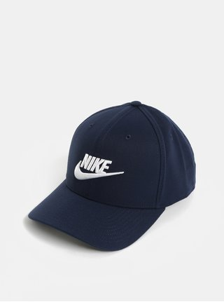 Tmavě modrá unisex kšiltovka s výšivkou Nike