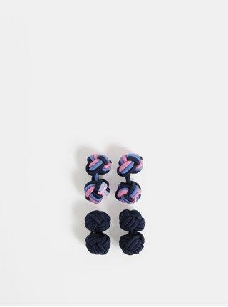Set de 2 perechi de butoni roz-albastru Burton Menswear London