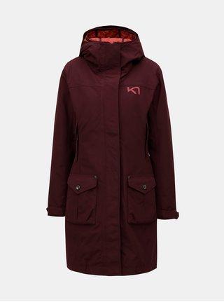 Vínový kabát s vnitřním lehkým odepínatelným kabátem 2v1 Kari Traa