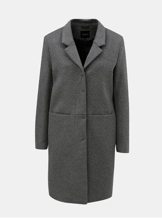 Šedý vlněný kabát Selected Femme Boa