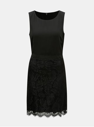 Černé pouzdrové šaty s krajkou VERO MODA Mevy