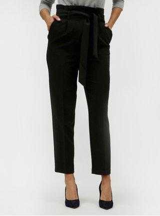 Pantaloni negri cu cordon in talie VILA Charlotte