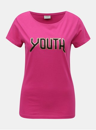 Tricou roz Jacqueline de Yong Chicago