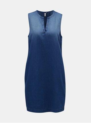 Rochie albastra din denim cu buzunare QS by s.Oliver