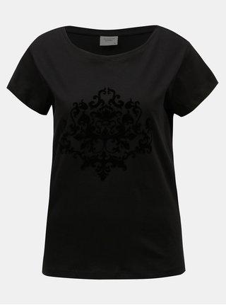 Černé vzorované tričko Jacqueline de Yong Chicago