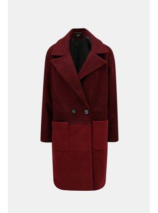 Vínový oversize kabát s kapsami ONLY Christra