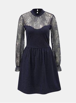 Tmavě modré šaty s krajkou ONLY Lucca