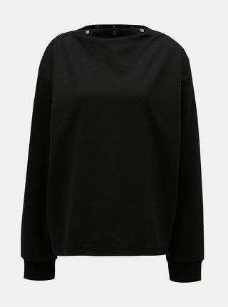 Bluza sport neagra oversize cu capse Cheap Monday