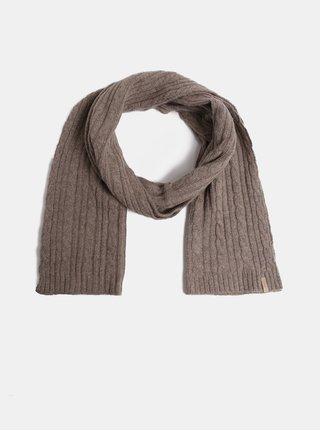 4df7ff9aba1 Hnědá dámská pletená šála s příměsí vlny GANT