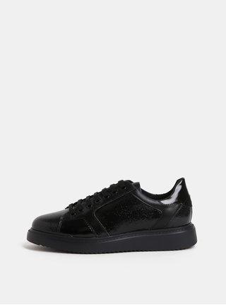 Pantofi sport de dama negri din piele Geox Thymare